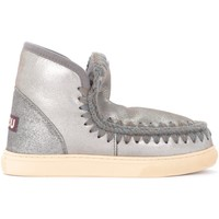 Shoes Women Snow boots Mou Mini Eskimo Ankle Boot Sneaker in gray sheepskin Grey