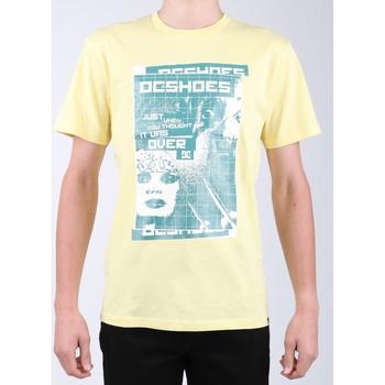 Clothing Men Short-sleeved t-shirts DC Shoes DC SEDYZT03769-YZL0 yellow
