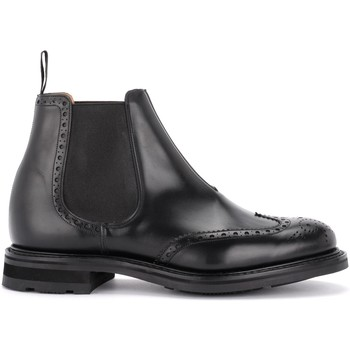 Shoes Men Mid boots Church's Beatles Coldbury shoe in black brushed calf leather Black