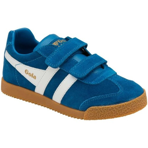 Shoes Children Low top trainers Gola Harrier Velcro Kids Trainers blue