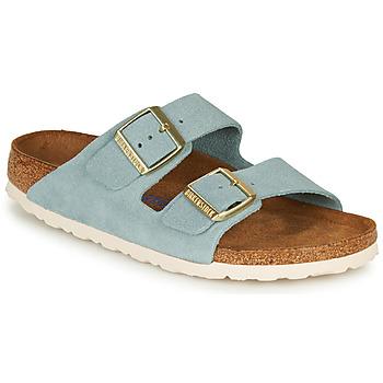 Shoes Women Mules Birkenstock ARIZONA SFB LEATHER Blue