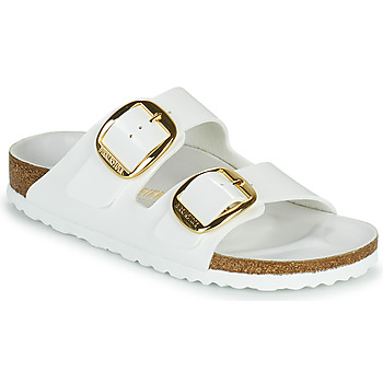 Shoes Women Mules Birkenstock ARIZONA BIG BUCKLE White / Gold