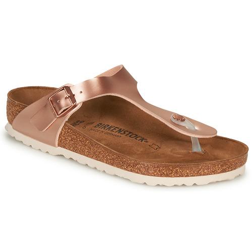 Shoes Women Flip flops Birkenstock GIZEH Pink / Gold