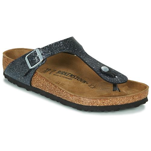 Shoes Women Flip flops Birkenstock GIZEH Black / Silver