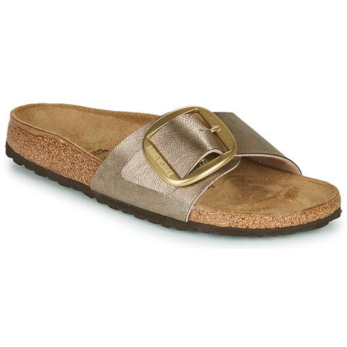 Shoes Women Mules Birkenstock MADRID BIG BUCKLE Graceful / Taupe