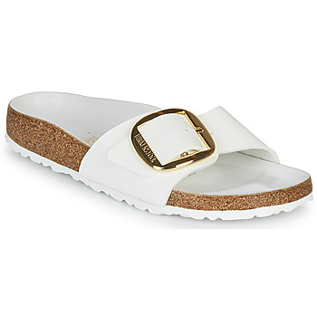 Shoes Women Mules Birkenstock MADRID BIG BUCKLE White / Varnish