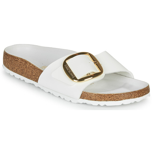 Shoes Women Mules Birkenstock MADRID BIG BUCKLE White / Varnish
