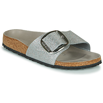 Shoes Women Mules Birkenstock MADRID BIG BUCKLE Silver