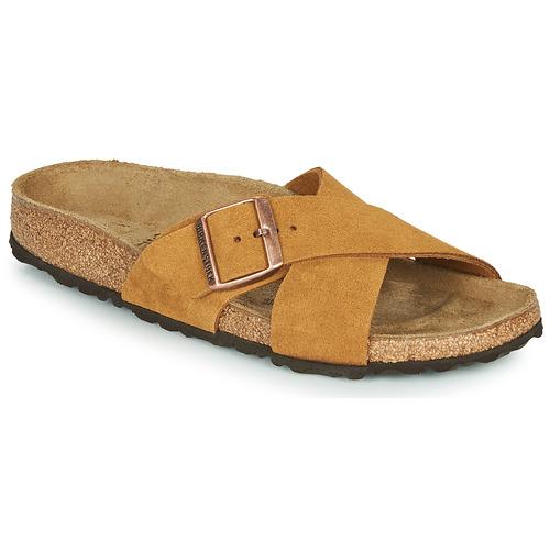 Shoes Women Mules Birkenstock SIENA LEATHER Camel