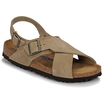 Shoes Women Sandals Birkenstock TULUM SFB LEATHER Taupe