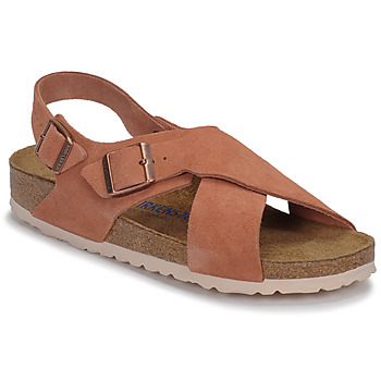 Shoes Women Sandals Birkenstock TULUM SFB LEATHER Earth / Red / Red