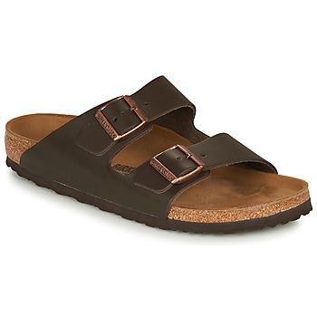 Shoes Men Mules Birkenstock ARIZONA LEATHER Brown