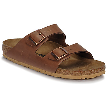 Shoes Men Mules Birkenstock ARIZONA Antique / Pull / Expresso