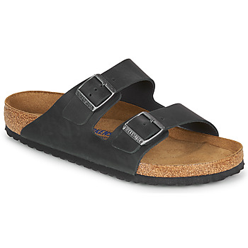 Shoes Men Mules Birkenstock ARIZONA SFB LEATHER Black