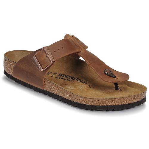 Shoes Men Flip flops Birkenstock MEDINA LEATHER Antique / Brown