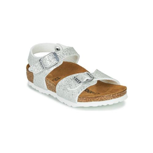 Shoes Girl Sandals Birkenstock RIO PLAIN White