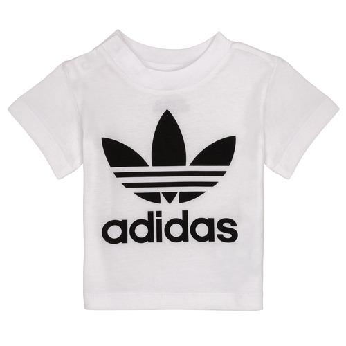 Clothing Children Short-sleeved t-shirts adidas Originals MAELYS White