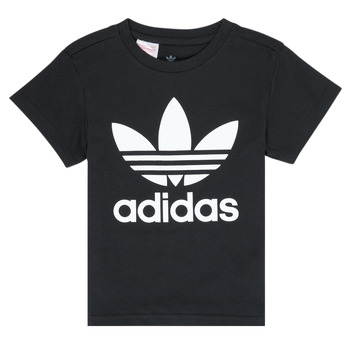 Clothing Children Short-sleeved t-shirts adidas Originals LEILA Black