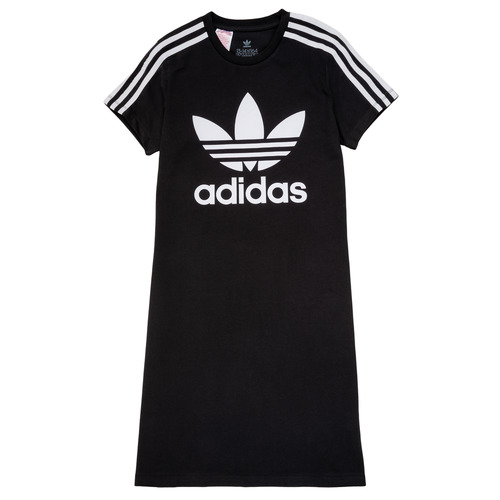 Clothing Girl Short Dresses adidas Originals SALOME Black