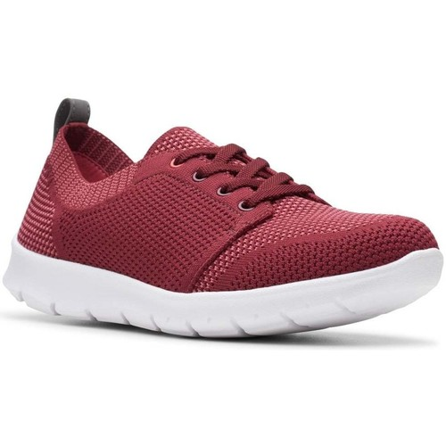 Shoes Women Low top trainers Clarks Step Allenasun Womens Sports Shoes red