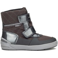 Shoes Girl Snow boots Geox JR Sleigh Girl Abx Grey