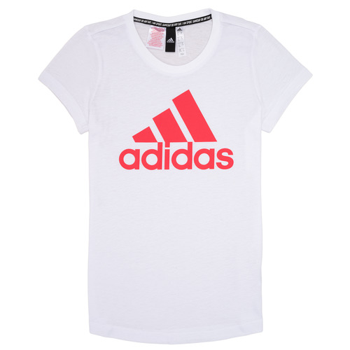 Clothing Girl short-sleeved t-shirts adidas Performance ELIOTE White