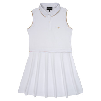 Clothing Girl Short Dresses Emporio Armani Abraham White
