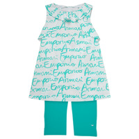 Clothing Girl Sets & Outfits Emporio Armani Adel White / Blue