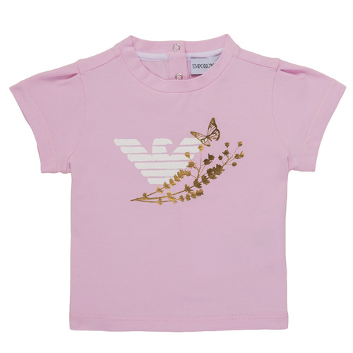 Clothing Girl short-sleeved t-shirts Emporio Armani Adrian Pink