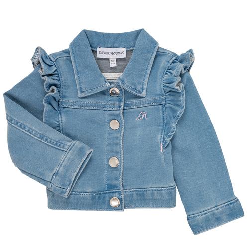 Clothing Girl Jackets / Blazers Emporio Armani Aldric Blue
