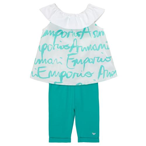 Clothing Girl Sets & Outfits Emporio Armani Alex White / Blue
