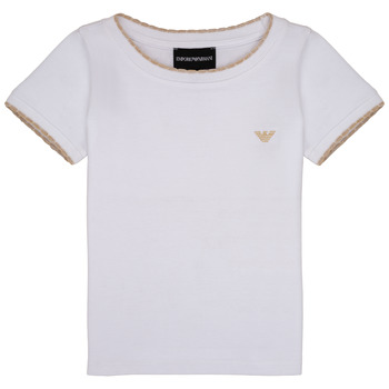 Clothing Girl short-sleeved t-shirts Emporio Armani Allan White