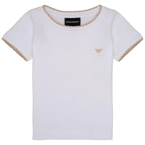 Clothing Girl short-sleeved t-shirts Emporio Armani Allan White