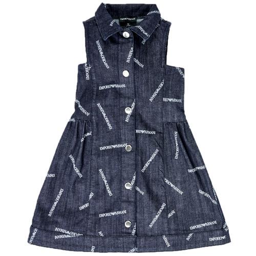 Clothing Girl Short Dresses Emporio Armani Andy Blue