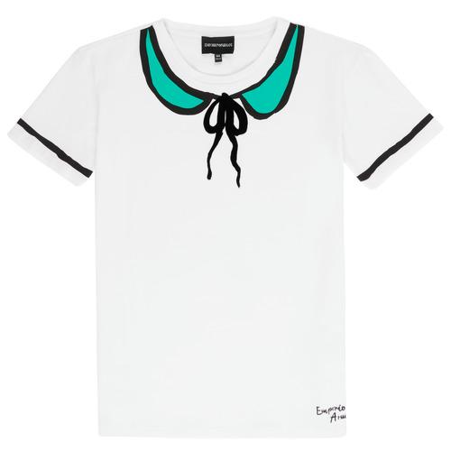 Clothing Girl short-sleeved t-shirts Emporio Armani Anthonin White