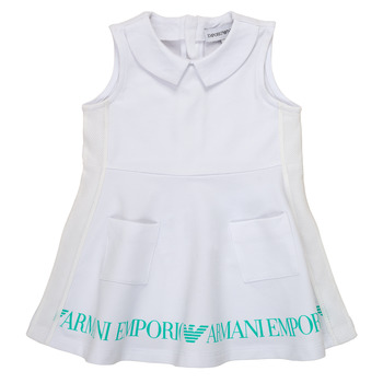Clothing Girl Short Dresses Emporio Armani Apollinaire White
