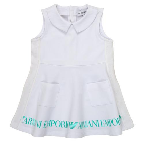 Clothing Girl Short Dresses Emporio Armani Apollinaire White