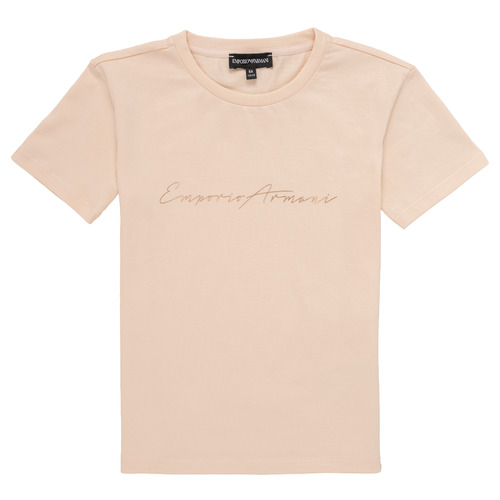 Clothing Girl Short-sleeved t-shirts Emporio Armani Armel Pink