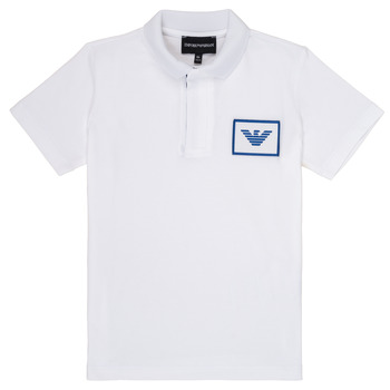 Clothing Boy short-sleeved polo shirts Emporio Armani Aime White