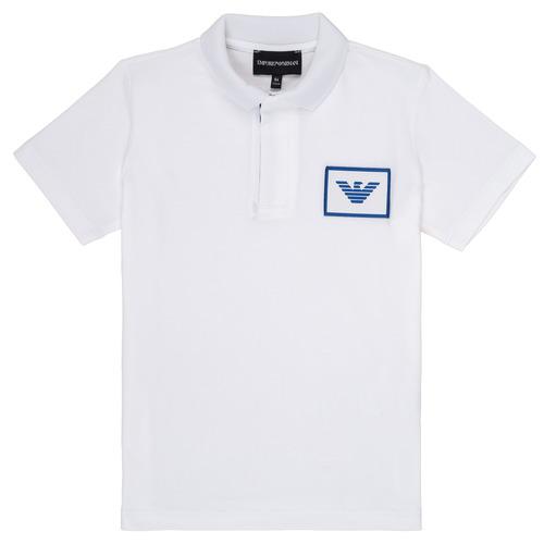 Clothing Boy Short-sleeved polo shirts Emporio Armani Aime White
