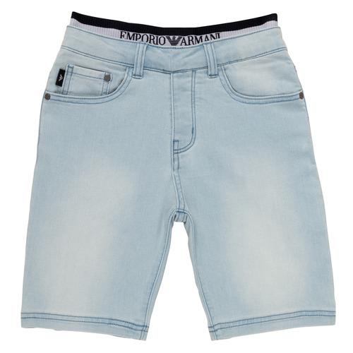 Clothing Boy Shorts / Bermudas Emporio Armani Albert Blue