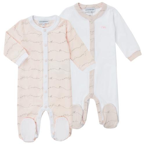 Clothing Girl Sleepsuits Emporio Armani Alec Pink