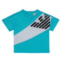 Clothing Boy short-sleeved t-shirts Emporio Armani Alois Blue / White