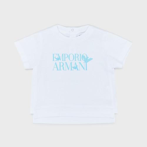 Clothing Boy Short-sleeved t-shirts Emporio Armani Arthus White