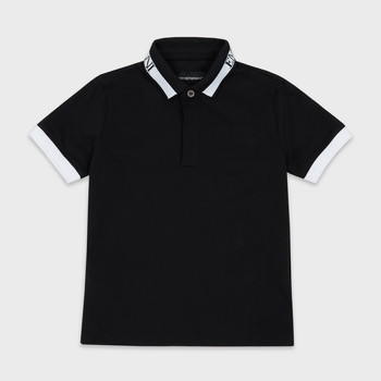 Clothing Boy short-sleeved polo shirts Emporio Armani Anael Black