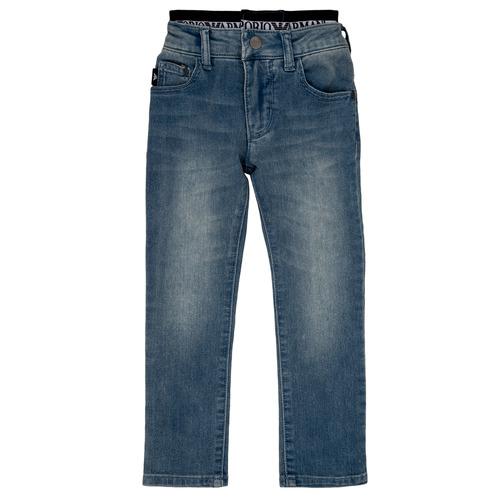 Clothing Boy straight jeans Emporio Armani Annie Blue