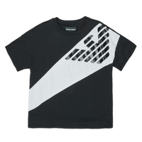 Clothing Boy Short-sleeved t-shirts Emporio Armani Blaise Black / White