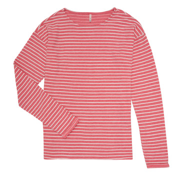 Clothing Girl Long sleeved tee-shirts Only KONNELLY White / Red