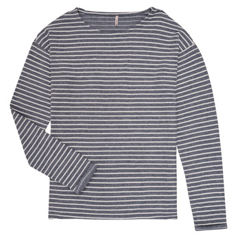 Clothing Girl Long sleeved tee-shirts Only KONNELLY White / Marine