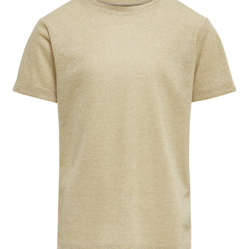 Clothing Girl short-sleeved t-shirts Only KONSILVERY Gold